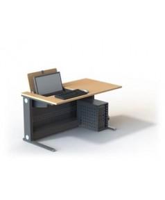Table de formation écran 22'' pivotant escamotable L1400 – P800 – H760 mm