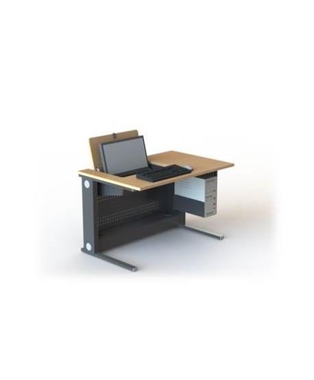 Table de formation écran pivotant escamotable 22'' L1200 – P800 – H760 mm