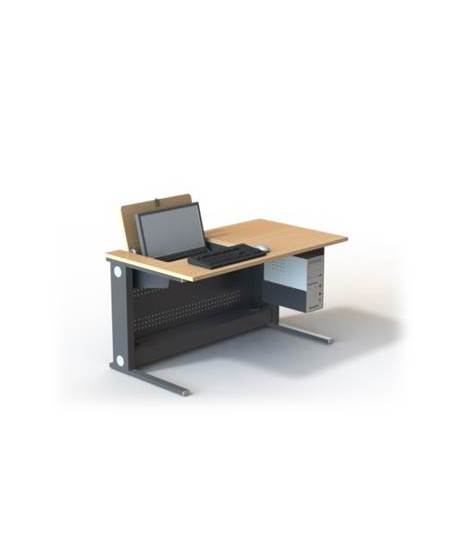 Table de formation écran pivotant escamotable 22'' L1400 – P800 – H760 mm
