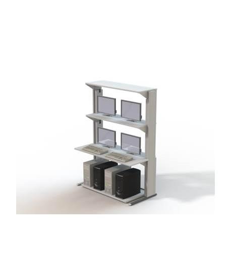 Mobilier informatique TECHNI-LAN L1400 mm – P700 mm – H1906 mm