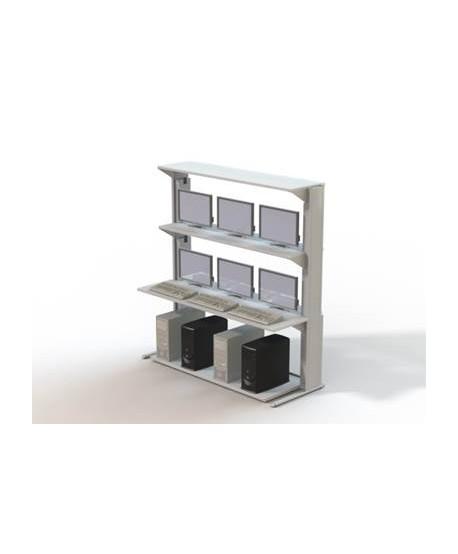 Mobilier informatique TECHNI-LAN L1800 mm – P700 mm – H1906 mm