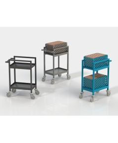 Chariot de distribution métallique 2 paniers
